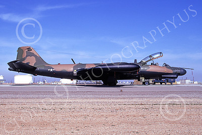 B-57USAF 00015 A static brown-black USAF Martin B-57G Canberra 533878 D-M AFB 3-1974 military airplane picture by Michael Grove, Sr