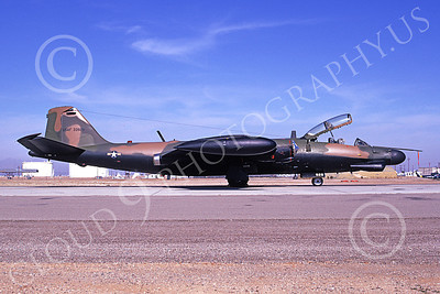 B-57USAF 00019 A static brown-black USAF Martin B-57G Canberra 533928 3-1974, by Michael Grove, Sr
