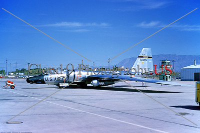 RB-57F-USAF 001 A static, bare metal, USAF Martin RB-57F Canberra, WEATHER, 13295  12-1964, military airplane picture by Clay Janson     Dt