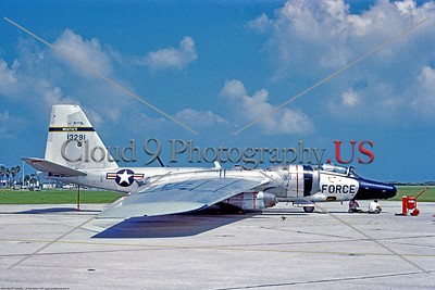 RB-57F-USAF 003 A static Martin RB-57F Canberra, USAF high altitude weather and reconnaissance airplane, 13291,  Patrick AFB 9-1977, military airplane picture by Clay Janson     Dt