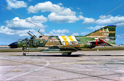 F-4II-USAF-LA-58th TFW 001 A static McDonnell Douglas F-4C Phantom II USAF multi role jet fighter, 64816, 58th TFW, LA tail code, 9-1977 Luke AFB, military airplane picture by Stephen W  D  Wolf   DDD_3941     Dt