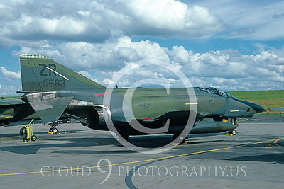 RF4C-USAF 00001 McDonnell Douglas RF-4C Phantom II USAF # 68563  Aug 1987 via AASS