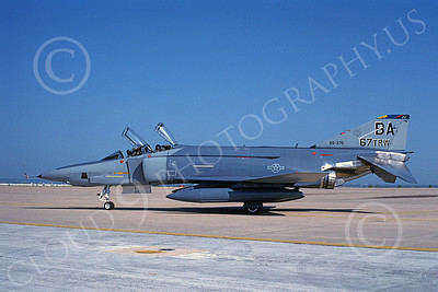 F-4USAF 00029 McDonnell Douglas RF-4C Phantom II USAF 69376 67TRW BA Aug 1990 military airplane picture by Michael Grove, Sr
