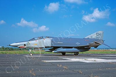 SM 00051 McDonnell Douglas RF-4C Phantom II USAF 64047 BH tail code by D W Menard