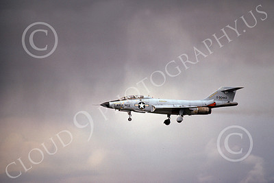 F-101BUSAF 00030 A landing McDonnell F-101B Voodo USAF 90443 6-1975 military airplane picture by Michael Grove, Sr