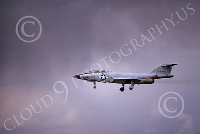 F-101BUSAF 00050 A landing McDonnell F-101B Voodo USAF 90443 6-1975 military airplane picture by Michael Grove, Sr
