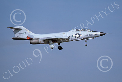 F-101BUSAF 00028 A landing McDonnell F-101B Voodo USAF 90472 8-1976 military airplane picture by Michael Grove, Sr