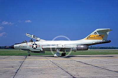 F-101BUSAF 00001 McDonnell F-101B Voodoo USAF 70307 September 1968 by Peter B Lewis