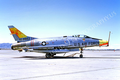 DG 00035 North American F-100A Super Sabre USAF 31662 August 1970 Luke AFB by Peter B Lewis