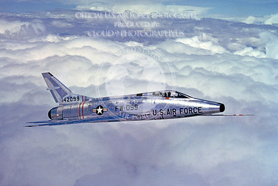 F-100USAF 00004 North American F-100A Super Sabre USAF 42099 Official USAF photograph produced by Cloud 9 Photography