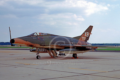 F-100USAF 00005 North American F-100D Super Sabre USAF 54937 October 1968 by Frank MacSorley