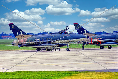 F-100-USAF-LT-49 TFW 001 A static North American F-100D Super Sabre, USAF 0-62979, a Cold War era supersonic jet fighter, 6-1971 Lakenheath, military airplane picture by Stephen W  D  Wolf     11A_7701     Dt