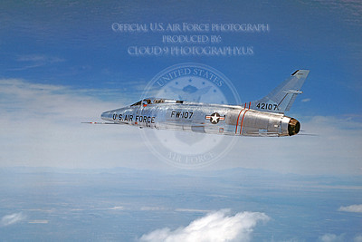 F-100USAF 00006 North American F-100A Super Sabre USAF 42107 Official USAF photograph produced by Cloud 9 Photography