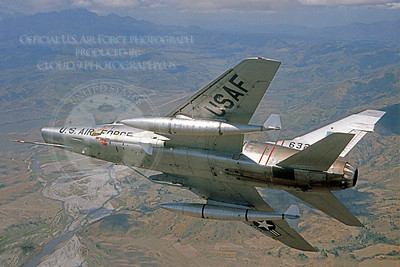F-100USAF 00012 North American F-100A Super Sabre USAF Official USAF photograph produced by Cloud 9 Photography