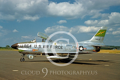 F-86USAF 00007 North American F-86D Sabre by Warren D Shipp