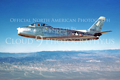 F-86USAF 00008 North American  XF-86 Sabre courtesy North American Aviation Co