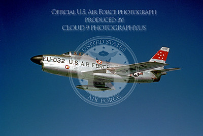F-86USAF 00002 North American F-86D Official US Air Force Photograph