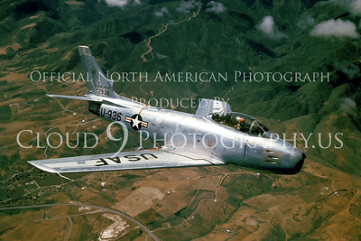 F-86USAF 00006 North American F-86A Sabre courtesy North American Aviation Co