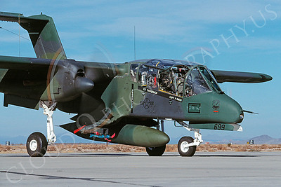 OV-10USAF 00003 North American OV-10 Bronco USAF George AFB January 1990 by Peter J Mancus