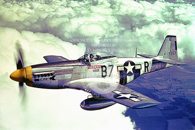 P-51 00017 A wonderful picture of a WWII era US Army Air Corps North American P-51D, TIKA IV, with six German kills, military airplane picture, Official USAF Picture