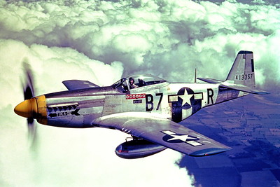 P-51 00016 A wonderful picture of a WWII era US Army Air Corps North American P-51D, TIKA IV, with six German kills, military airplane picture, Official USAF Picture