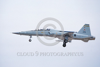 F-5USAF-Aggr 00028 A landing Northrop F-5F Freedom Fighter USAF 20091 4-1984 military airplane picture by Michael Grove, Sr