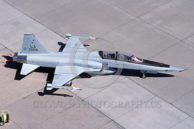 F-5USAF 00003 A static Northrop F-5F Freedom Fighter USAF 20091 LA code 7-1986 military airplane picture by Michael Grove, Sr