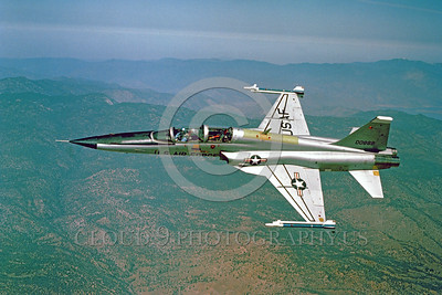 F-5USAF-Fly 00008 A flying Northrop F-5F Freedom Fighter USAF 00889 jet fighter official USAF photograph produced by Cloud 9 Photography