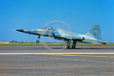 F-5USAF-Aggr 00001 A Northrop F-5E Freedom Fighter USAF 01541 AGGRESSOR lands at Luke AFB 7-1980 military airplane picture by Peter J Mancus