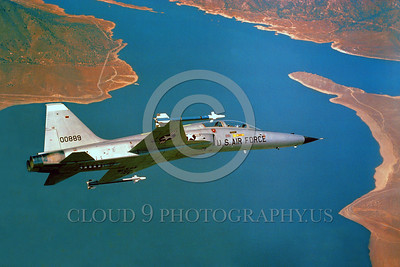 F-5USAF-Fly 00010 A flying Northrop F-5F Freedom Fighter USAF 00889 official USAF photograph produced by Cloud 9 Photography