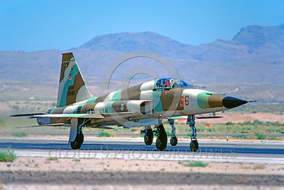 F-5USAF-Aggr 00013 A taxing Northrop F-5E Freedom Fighter USAF AGGRESSOR Nellis AFB 6-1980 military airplane picture by Peter J Mancus