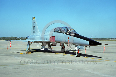 F-5USAF 00005 A static Northrop F-5F Freedom Fighter USAF 73889 LD code Luke AFB 11-1996 military airplane picture by Michael Grove, Sr