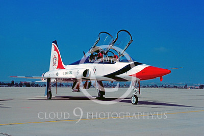 BICEN-T-38 00001 Northrop T-38 Talon USAF Thunderbirds March AFB June 1976 by Peter J Mancus