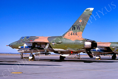 F-105USAF 00021 Republic F-105G Thunderchief Wildweasel USAF 62446 George AFB April 1980 by Peter J Mancus