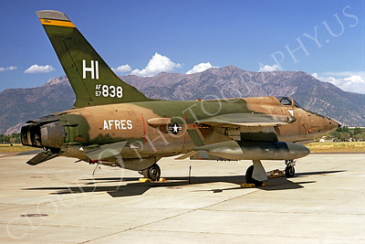 F-105USAF 00019 Republic F-105 Thunderchief USAF 57838 28 May 1974 Hill AFB by David Ostrowski