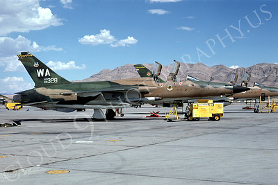 F-105USAF 00029 Republic F-105 Thunderchief USAF 63328 Nellis AFB August 1974 by Ted W van Geffen