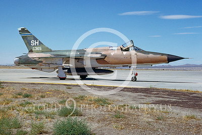 F-105-USAF 00009 Republic F-105D Thunderchief USAFR # 63365 George AFB July 1980 by Peter B Lewis