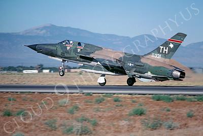 F-105USAF 00035 Republic F-105 Thunderchief USAF 63331 George AFB July 1980 by Peter J Mancus