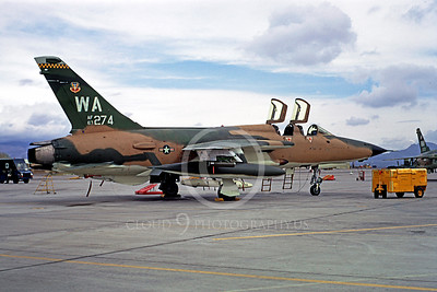 F-105USAF 00031 Republic F-105 Thunderchief USAF 63274 Nellis AFB April 1973 by Peter B Lewis