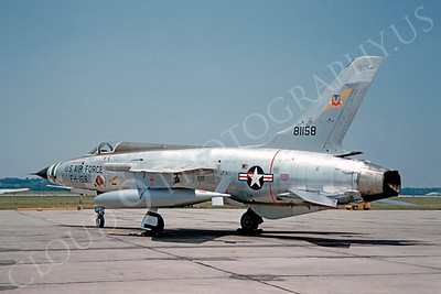 F-105USAF 00013 Republic F-105 Thunderchief USAF 81158 1960 by Clay Jansson