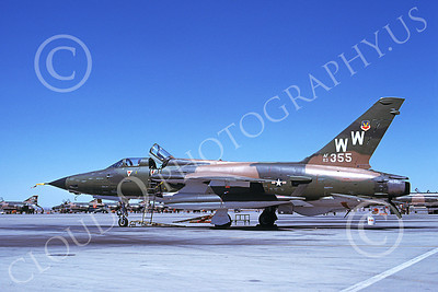 F-105USAF 00187 A static Republic F-105G Thunderchief Wild Weasel USAF 63355 WW code George AFB 7-1979 military airplane picture by Peter B Lewis