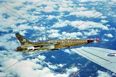 F-105USAF-388th TFW 002 A flying Republic F-105G Thunderchief USAF 60306 388th TFW JB tail code from Korat RTAFB SAM suppression fighter-bomber Vietnam War aircraft 1970, by Wayne Martin, via Stephen W  D  Wolf coll      BBB_6104     DoneWT