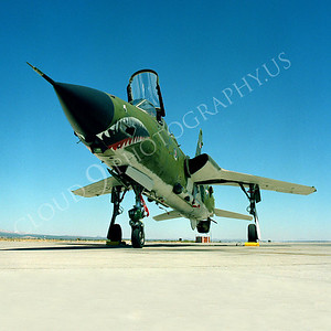 SM 00075 Republic F-105G Thunderchief Wild Weasel USAF George AFB by Peter J Mancus