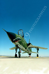 SM 00057 Republic F-105G Thunderchief Wild Weasel USAF George AFB by Peter J Mancus