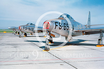 F-84USAF 00003 Republic F-84 Thunderjet US Air Force by William T Larkins