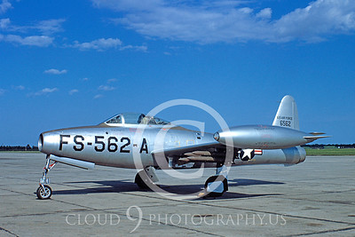F-84USAF 00001 Republic F-84BThunderjet 20 May 1950 by Warren D Shipp