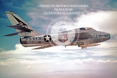 F-84F-USAF 00002 Republic F-84F Thunderstreak Official US Air Force Photograph
