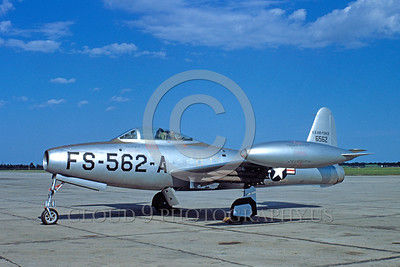 F-84USAF 00001 Republic F-84BThunderjet 20 May 1950 by Warren D Shipp_