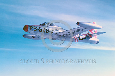 F-84USAF 00004 Republic F-84 Thunderjet Official US Air Force Photograph
