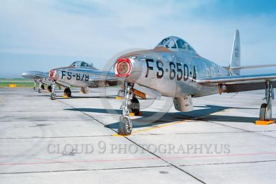 F-84USAF 00003 Republic F-84 Thunderjet US Air Force by William T Larkins